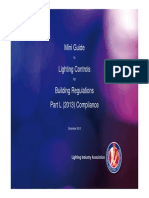Mini Guide to Lighting Controls for Building Regulations Part L (2013) Compliance