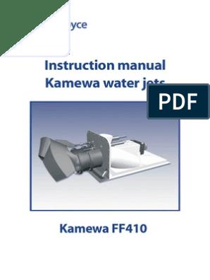 MANUAL FOR WATERJET FF410 | Jet Engine | Manual Transmission