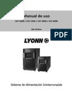 Manual de Usuario UPS Lyonn ULT-VT de 1 a 3KVA