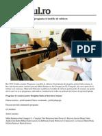 Bac2015 Limba Romana Programa Modele Subiecte