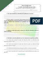 A.1 Teste Diagnóstico Alimentos Como Veículo de Nutrientes 1