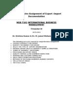 Export-import Content Headings