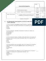 Evaluación Sumativa Sustantivos y Pronombres 3ro