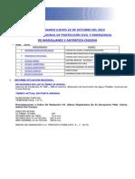 Informe Diario Onemi Magallanes 22.10.2015