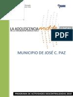 La Adolescencia en La Pcia Bs as - Jose C Paz