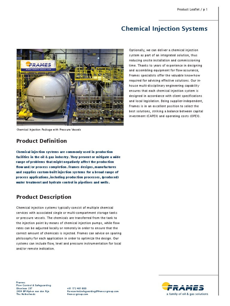 Chemical Injection.pdf | Extraction Of Petroleum | Natural Gas