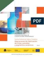 VIC206_2 OPERACIONES DE FABRICACIÓN DE FRITAS, ESMALTES Y PIGMENTOS CERÁMICOS