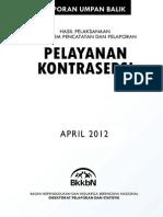 Laporan Hasil Pelayanan Kontrasepsi Apr Laporan Hasil Pelayanan Kontrasepsi April 2012il 2012