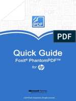 Foxit PhantomPDF for HP_Quick Guide