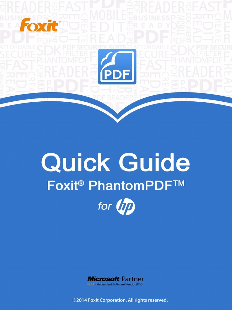 Foxit Phantompdf For Hp Quick Guide