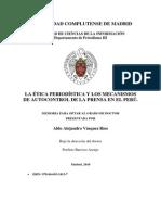 LA ÉTICA PERIODÍSTICA Y LOS MECANISMOS DE AUTOCONTROL DE LA PRENSA EN EL PERÚ.