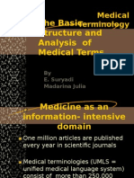 The Basic Structure and Analysis of Med. Term