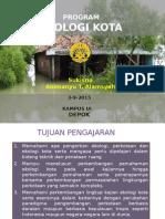 MK. Ekologi Kota. Program 1. 3-9-2015
