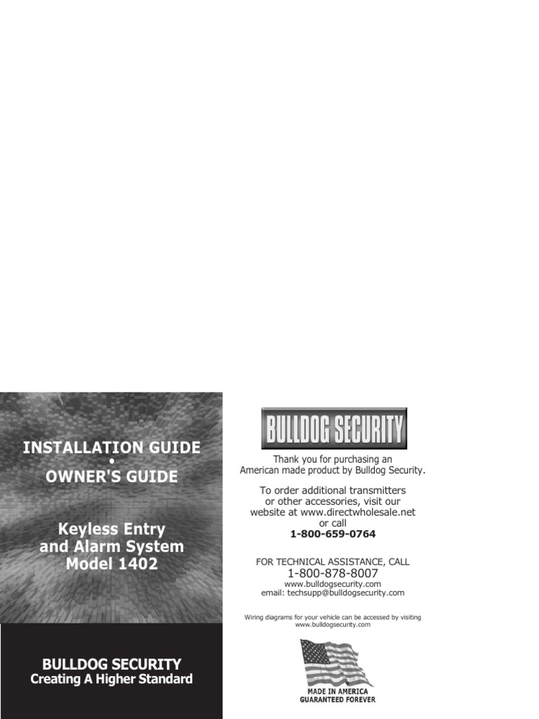 Bulldog security system | Switch | Electrical Connector