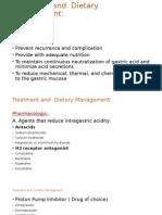 Peptic Ulcer Treatmenta Nd Dietary MGT