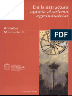 De La Estructura Agraria Al Sistema Agroindustrial - Absalón Machado