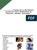 Deteccion y Manejo de La Abstinencia Alcoholica En