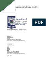 Shato-marium University and Creative Tec