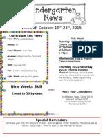 Newsletter October 19th