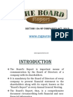 Board Report Under Section 134 Cos Act