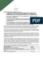 Humanas.cl - Ranking Par Lament a Rio Compromisos Con Los Derechos Humanos y La Democracia 2009