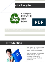 I Pledge to Recycle