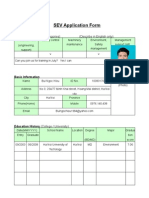 SEV Application Form