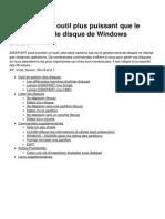 Diskpart Un Outil Plus Puissant Que Le Gestionnaire de Disque de Windows