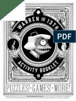 Warren the 13th Activity Booklet