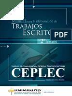 Manual de Trabajos Escritos Crs - Segunda Edición