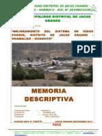Memoria Descriptiva Proyecto Pogrin - Nov- 2013
