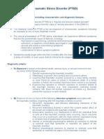 PTSD - Diagnostic Criteria