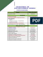 Cronograma Pi Matem Atual Site Pii 2015