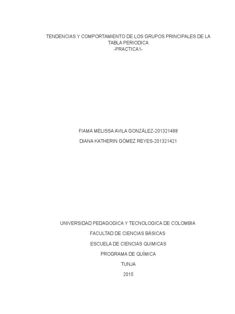 Tendencias y comportamiento de los grupos principales de la tabla tendencias y comportamiento de los grupos principales de la tabla periodica urtaz Gallery