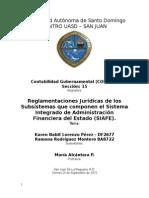 Reglamentaciones Jurídicas del Sistema Integrado de Administración Financiera Del Estado (Siafe)