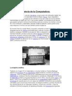Historia de La Computadora y su Orígen