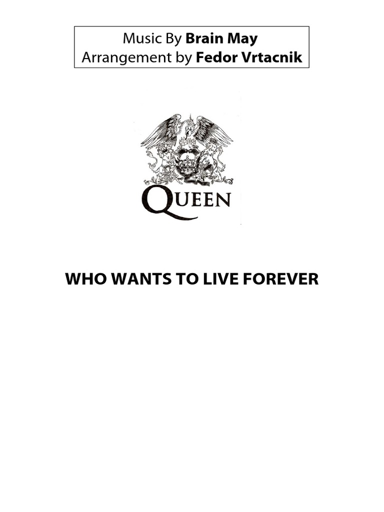 WHO WANTS to LIVE FOREVER.pdf Full Orchestra Score