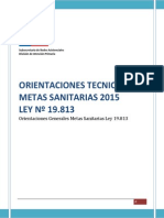 Orientaciones Técnicas Metas Ley 19813 Del 2015