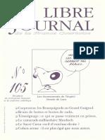 Libre Journal de la France Courtoise N°105