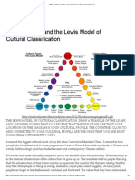 Ethnocentrism and the Lewis Model of Cultural Classification