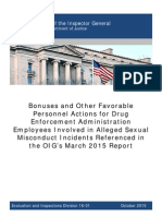 DEA bonus OIG Report