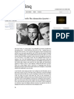 Revisiting Lawrence Durrell's the Alexandria Quartet — Paul M
