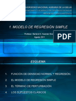 Modelo de Regresion Lineal Simple