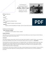 john mccrae research example