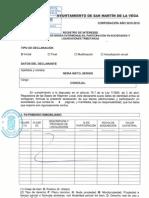 Declaración de bienes de Sergio Neira Nieto