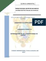 Análisis de suelos -Química ambiental
