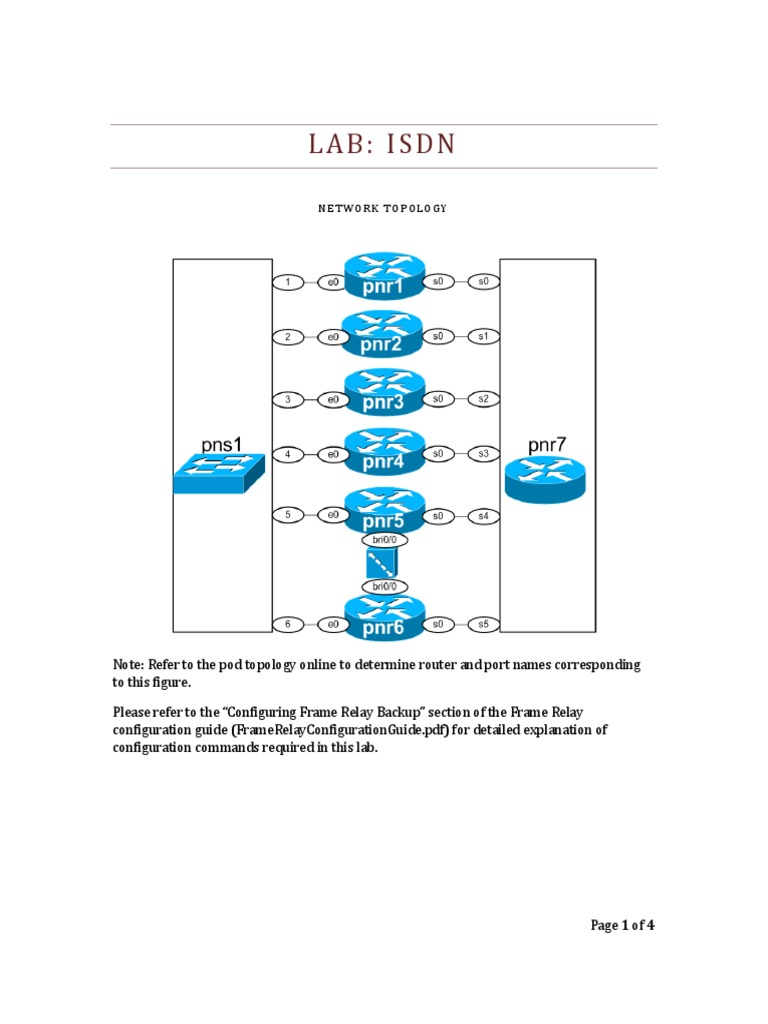 Isdn Router Computing Ip Address Basic Frame Relay Lab