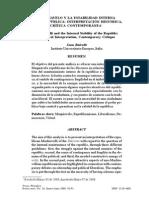 Maquiavelo y La Estabilidad Interna de La República Interpretación Histórica Crítica Contemporánea