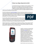 Los Teléfonos Móviles Con Mejor Batería De 2015