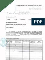 Declaración de bienes de M. Jose Martínez Martínez